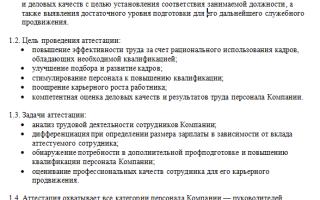Уведомление о проведении аттестации сотрудников: образец